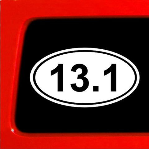 13.1 Marathon Sticker EURO OVAL Car Bumper Deal window