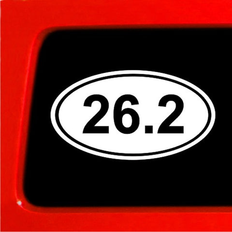 26.2 Marathon Sticker EURO OVAL Car Bumper Deal window