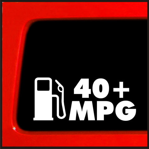 40+ mpg - JDM Sticker for Hybrid honda decal funny car truck import slammed