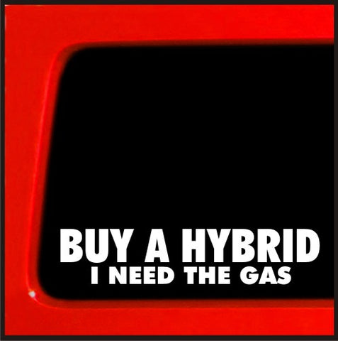 Buy a Hybrid , I Need the Gas Vinyl Decal diesel sticker for Jeep 4x4 Yota sas