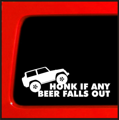 Hold my Beer and watch this - Funny sticker for Jeep truck white decal bumper *