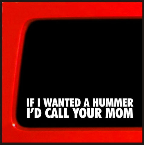 If I wanted a Hummer Mom sticker for Jeep 4x4 decal Yota sas bobbed 22 4wd li...
