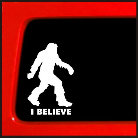 Sasquatch stick figure I Believe bigfoot Vinyl Decal Sticker funny