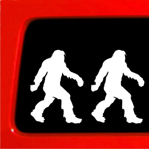 Sasquatch stick figure family - Sticker Decal - set of 2 - bigfoot Vinyl Decal