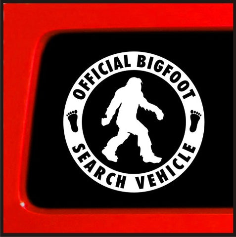 Official Bigfoot Search Vehicle - Sticker Vinyl Decal Sasquatch car truck laptop