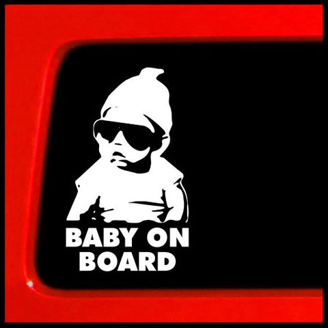 girl boy for baby shower in car preggo minivan van suv newborn pregnant die cut white safety sign family twins