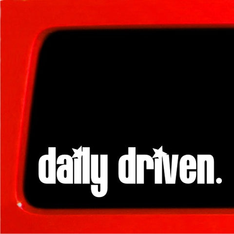Daily Driven Sticker JDM Vinyl Decal Car Shocker