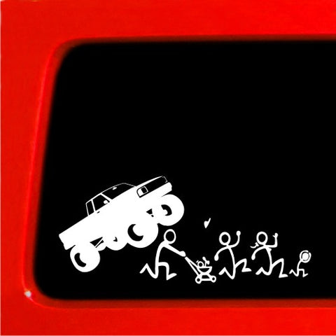 Stick Figure Family Nobody Cares Monster truck funny stickers car decal Blank ^^
