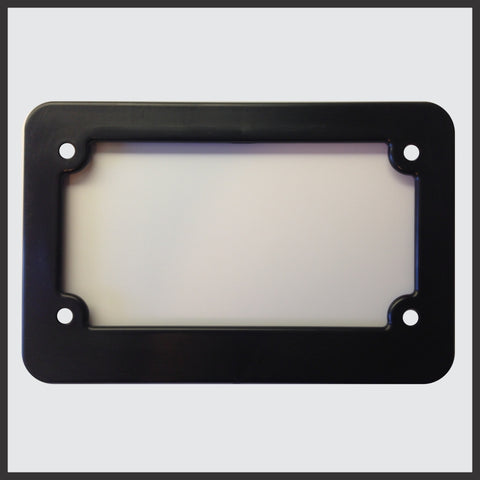 Motorcycle Scooter Blank Plastic License Plate Frame Tag Holder New Plain USA