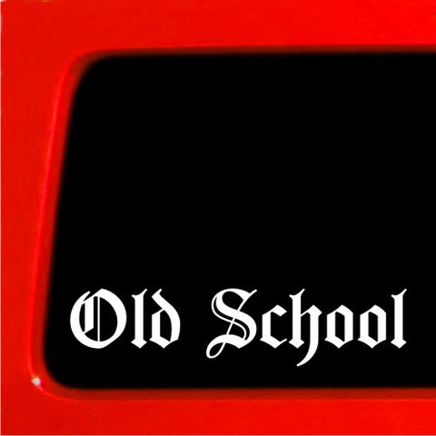 Old School Sticker JDM english decal car vinyl classic