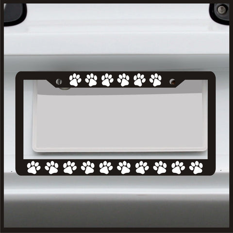 Puppy Paw Print - License Plate Frame - Frame for car / truck / funny
