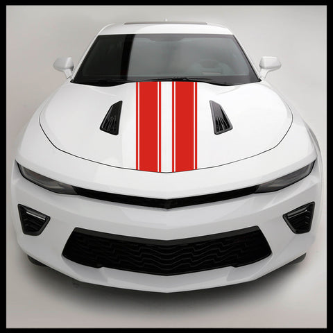 "2 6"" Hood Rally Racing Stripes Auto Graphic vinyl decal car truck universal fitment (Various Colors)"