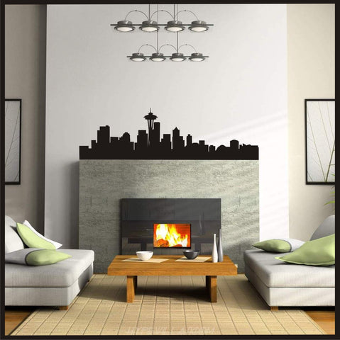 Seattle Skyline - Wall Art 206 Washington decor vinyl Decal Home