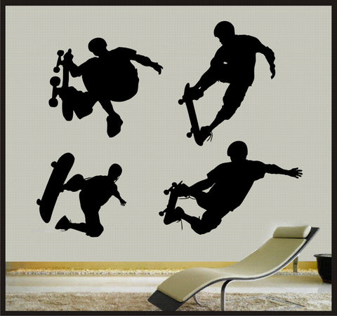 Skateboarders - Vinyl Wall Art Decal - Childrens Sports playroom