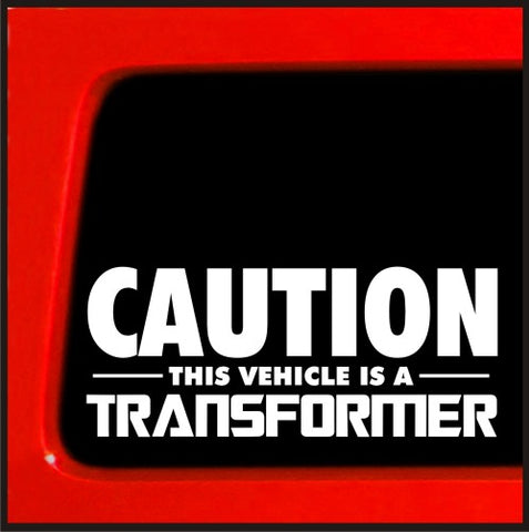 Caution This Vehicle is a Transformer autobot deceptacon car vinyl sticker decal