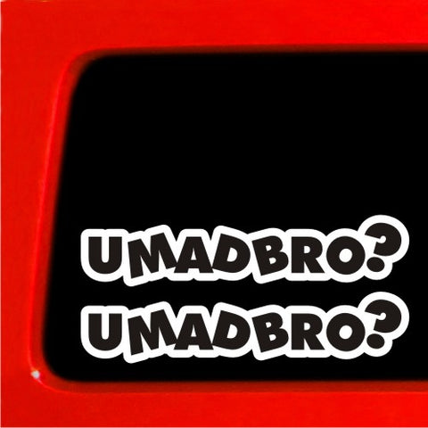 2 u mad bro? jdm car vinyl sticker funny decal drift ill car truck