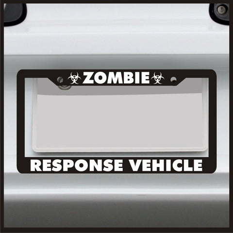 Zombie Response Vehicle - License Plate Frame - Made in USA