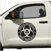 Zombie Response Team Door Stickers Decal biohazard radioactive set bio hazard