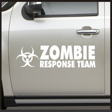 Set 2 Zombie Response Team Door Sticker - Sticker for Jeep Decal JDM Vinyl Car apocalypse