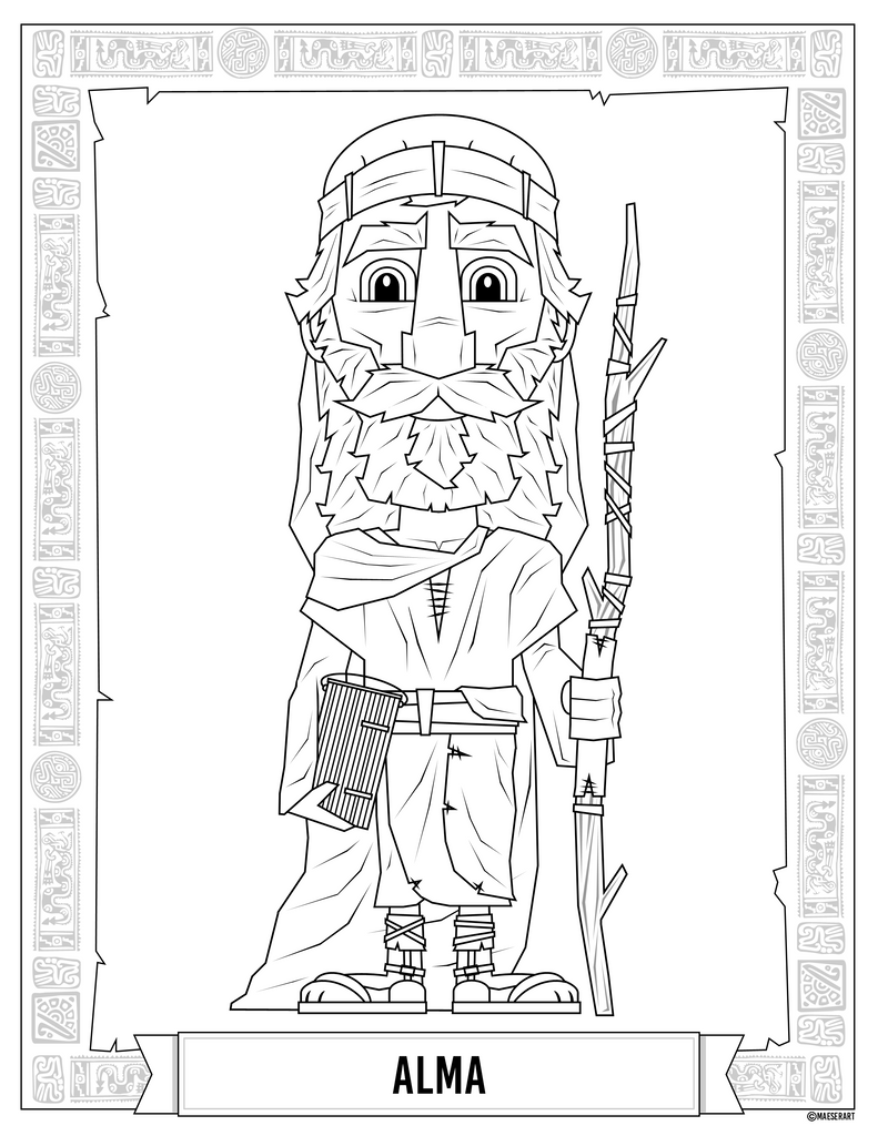 Alma and Amulon Coloring Pages from the Book of Mormon