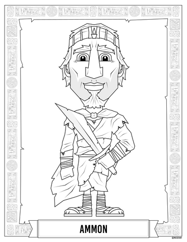 Ammon and King Lamoni Coloring Pages