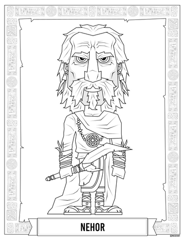 Nehor, Gideon, and Amlici Coloring Pages