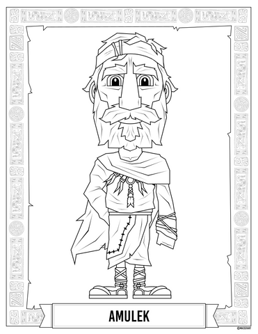 Amulek Coloring Page by Maeser Anderson