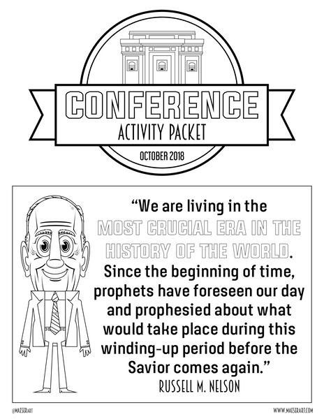 2018 October General Conference Activity Packet (Over 40 pages of activities!)