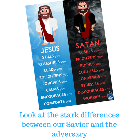 Jesus vs. Satan (Digital Print)