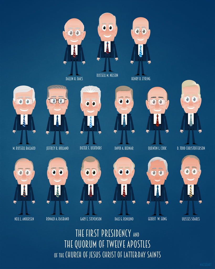 New First Presidency and Quorum of the Twelve Apostles Digital Print