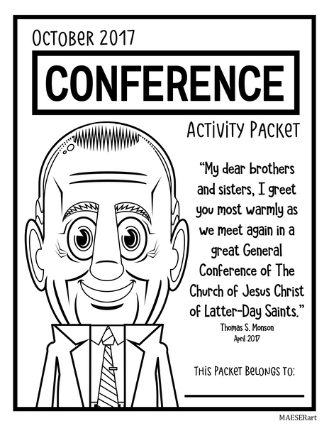 2017 October General Conference Activity Pack for Kids
