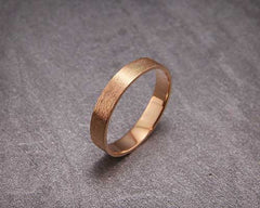 AverieJewelry | 14k solid rose gold brushed wedding ring