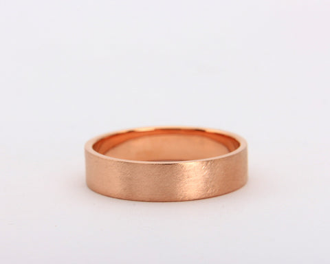 Handmade rose gold rustic men's wedding ring