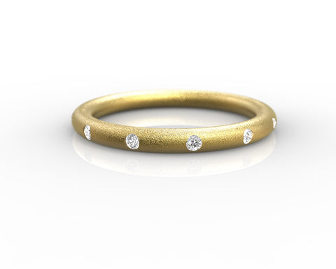Yellow Gold and Diamonds wedding ring