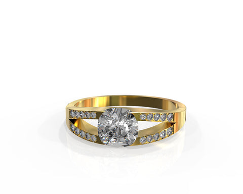Averie | Art & Jewelry. Cushion Diamond engement ring