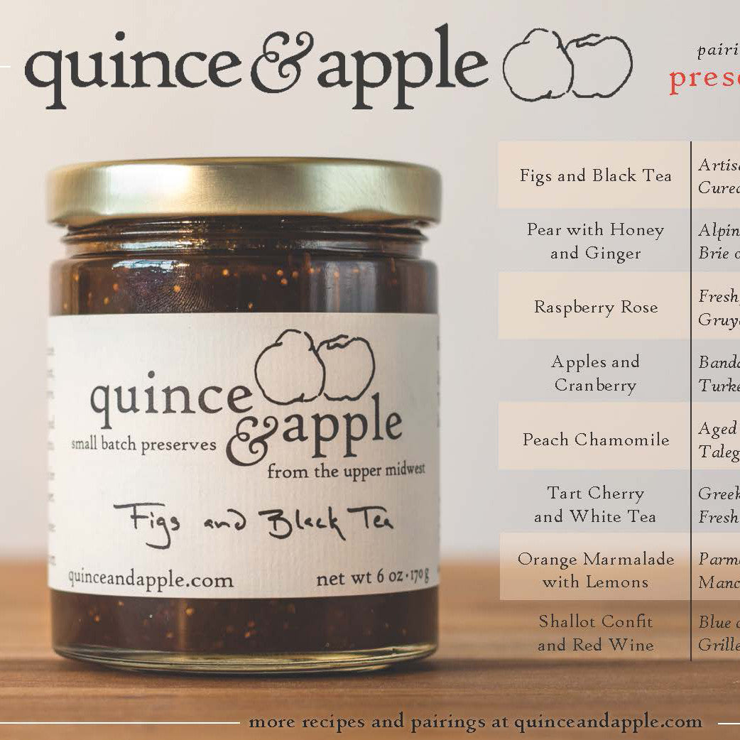 Jam and Cheese pairings from Quince and Apple, perfect for gourmet platters.