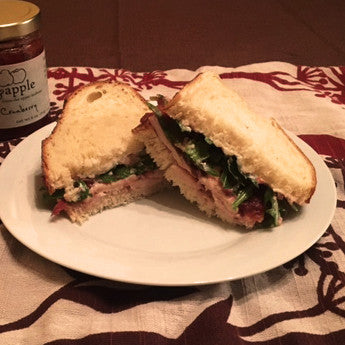 Chicken Sandwich with Apples and Cranberry Preserves
