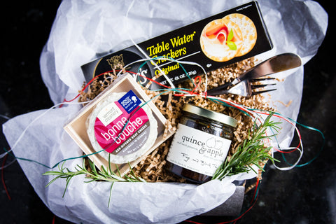 DIY gift basket with Quince and Apple preserves from Cheese Sex Death
