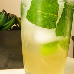 Cucumber Mojito with Lime and Cucumber syrup from Quince and Apple