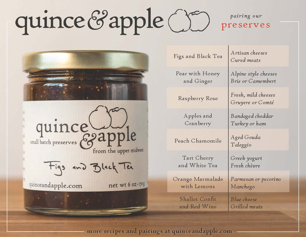 Gourmet Jam and Cheese Pairings from Quince and Apple.