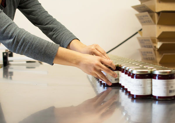 Labeling Raspberry Rose preserves