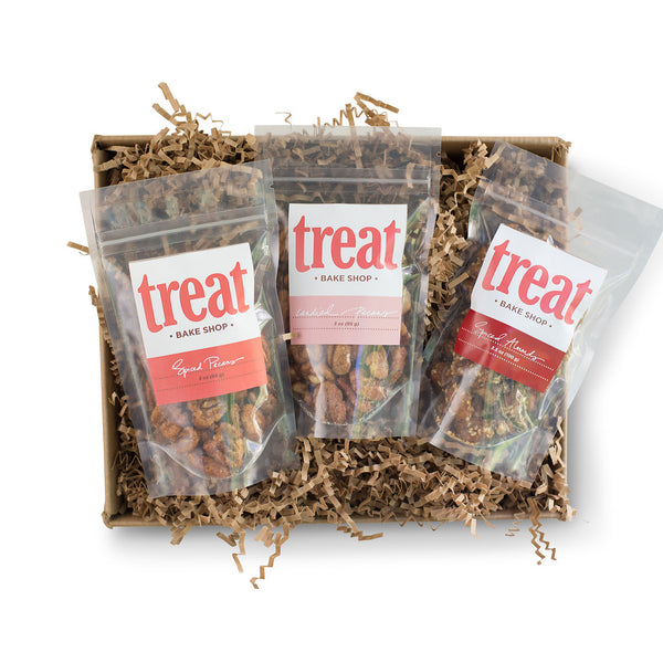 Spiced and Candied Nuts 3 Bag Gift Set