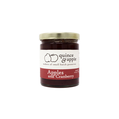 Apples and Cranberry jam 6 oz jar product photo