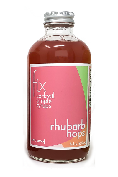 Rhubarb Hops simple syrup from Fix for craft cocktails at home
