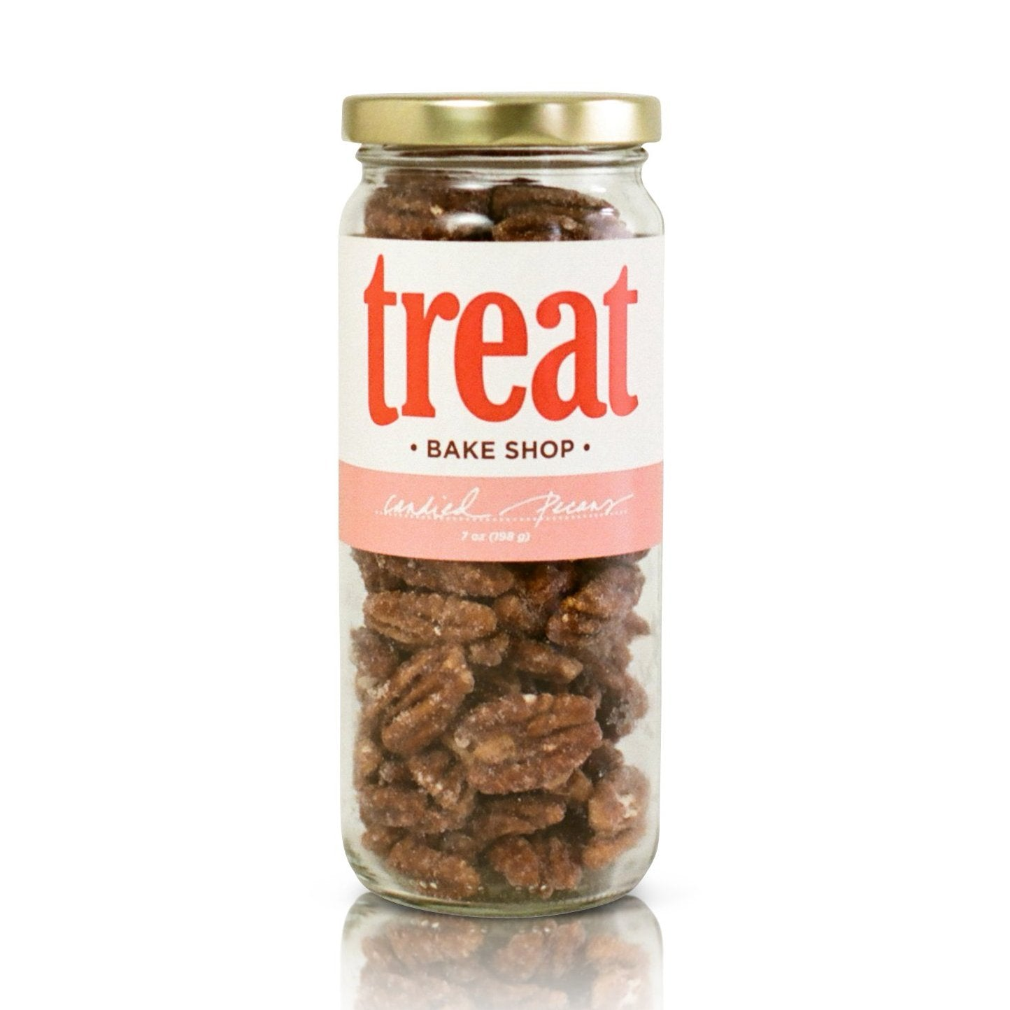 Enjoy candied pecans made in small batches from Treat. Our gourmet nuts explode with flavor and are the perfect gift for any season.