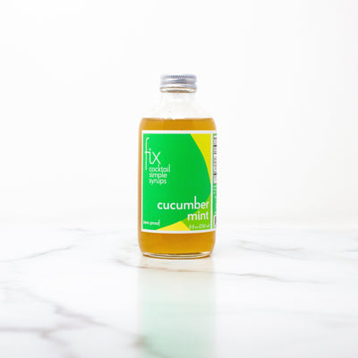 Cucumber Mint simple syrup from Fix - 8 oz bottle