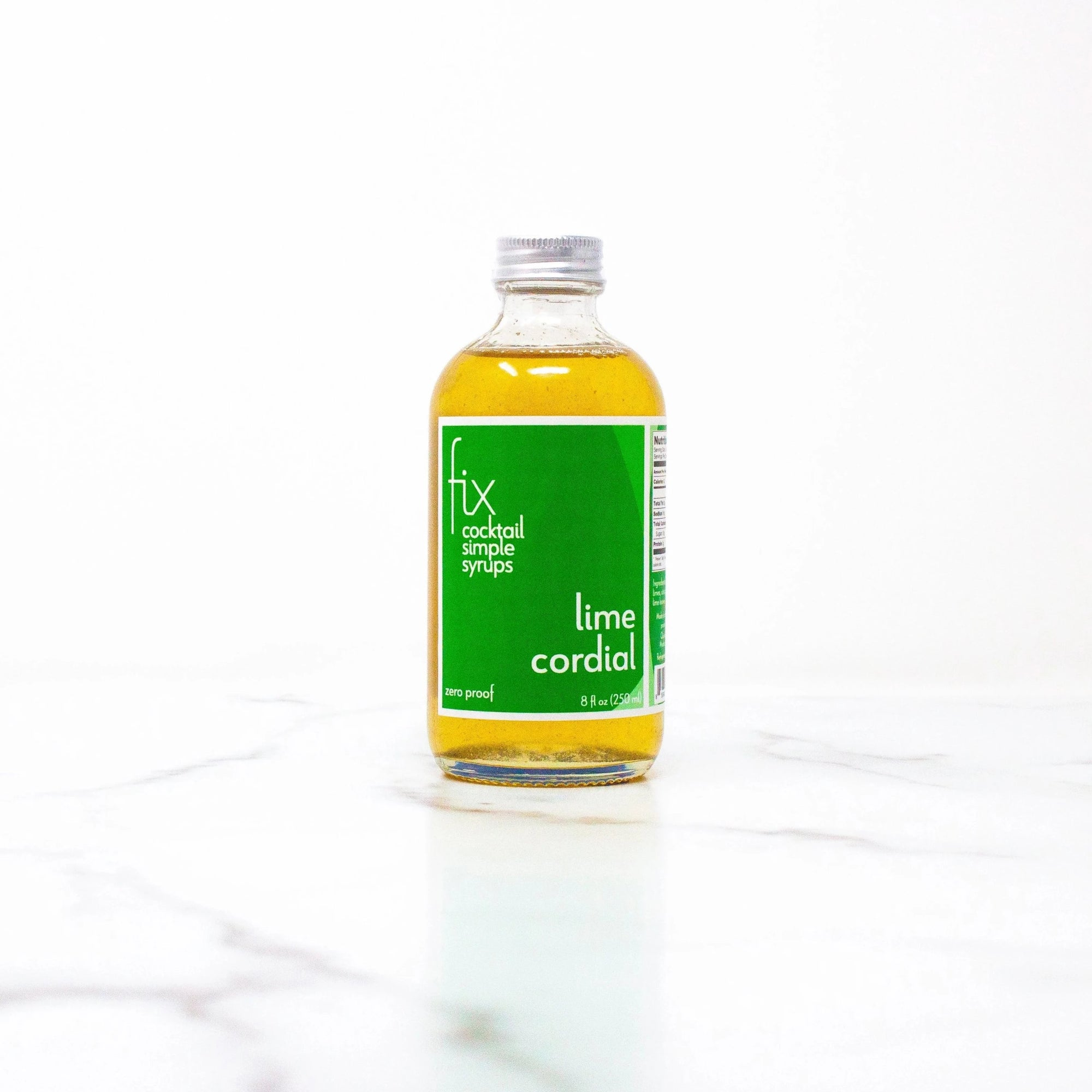 Lime Cordial simple syrup from Fix - 8 oz bottle
