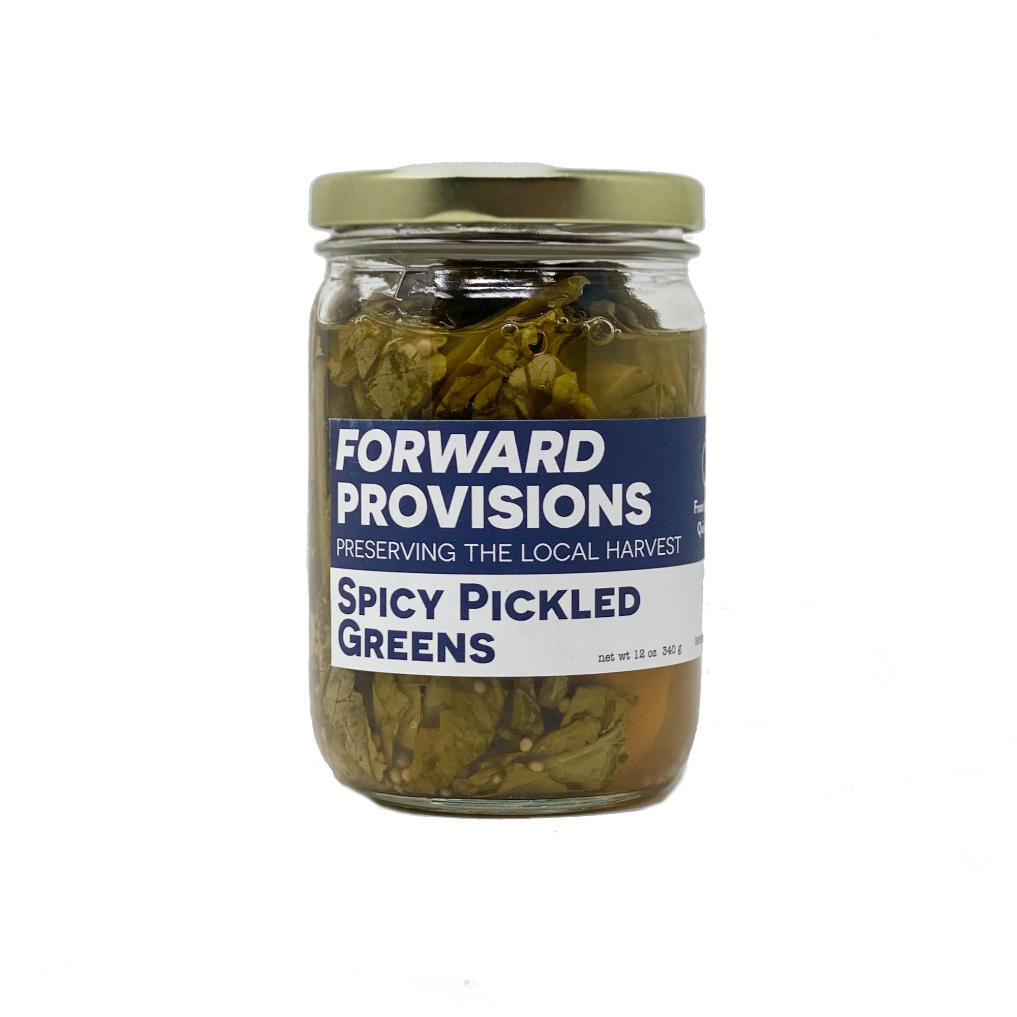 Spicy Pickled Greens