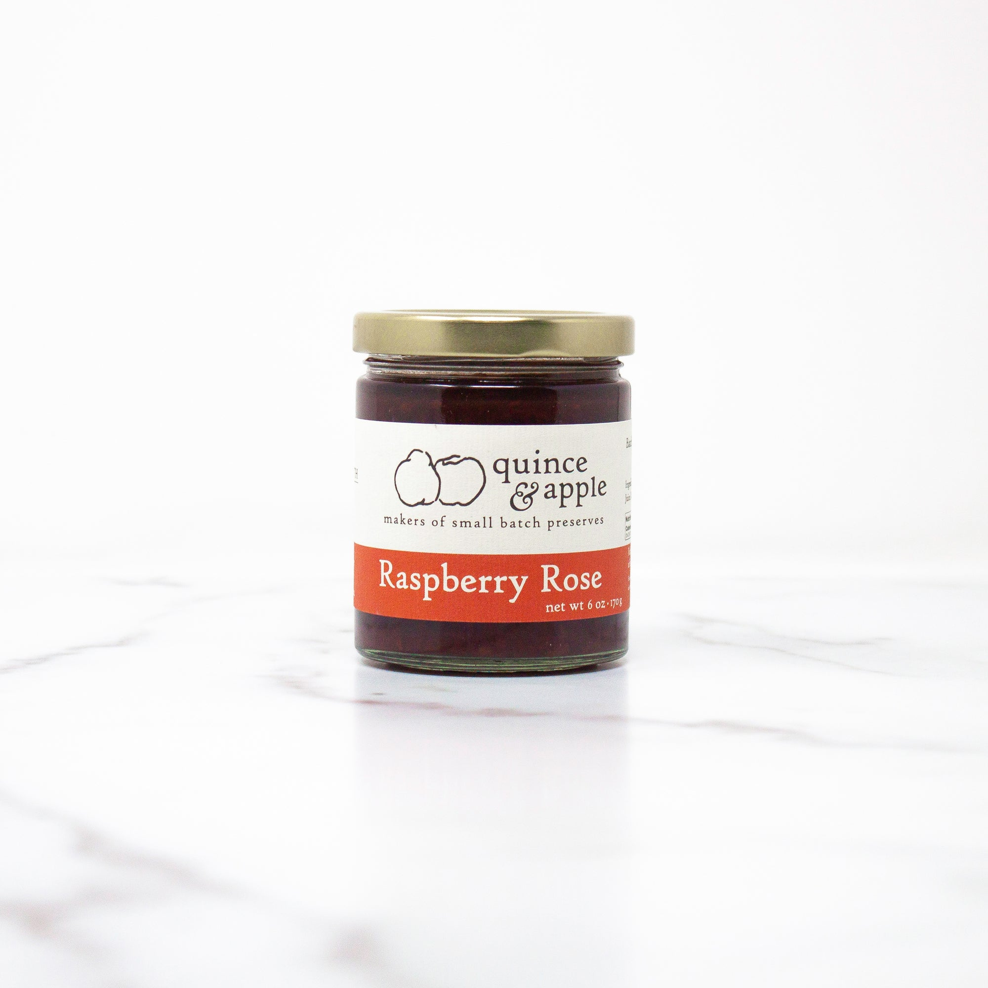 Raspberry Rose - gourmet raspberry jam infused with a hint of rose