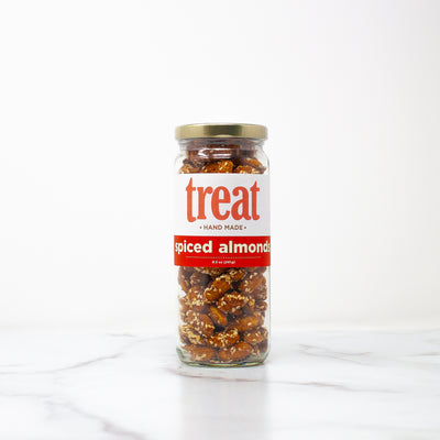Deluxe 8.5 oz Jar of Spiced Almonds from Treat